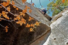 Rock Climbing Photo: Silvana on the undercling finish