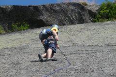 Rock Climbing Photo: Approx. Half way up P1 Freudian Slip