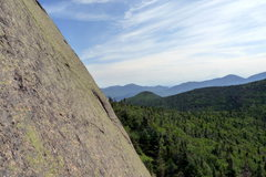 Rock Climbing Photo: View to the climber's right from P1 belay