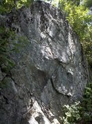 Rock Climbing Photo: Steal Your Face follows the slanted edges up the m...
