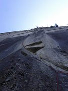 Rock Climbing Photo: AR cranking through the Left Side.  View from the ...