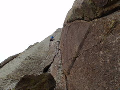 Rock Climbing Photo: Walt Bailey, Devil's Tower WY