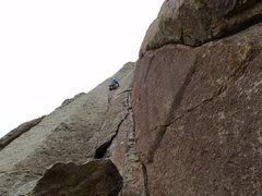 Rock Climbing Photo: Walt Bailey, Devil's Tower WY