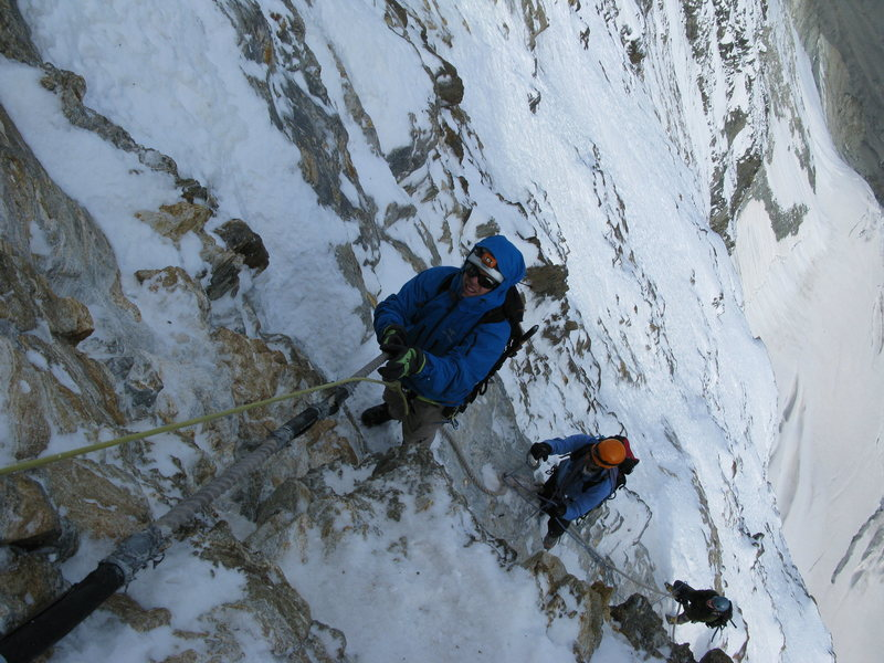 The fixed lines Matterhorn ALPS  Photo: Armin Fisher Copyright