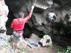 Rock Climbing Photo: Starting up Queen of the Virgin Bees (5.5 PG13) at...