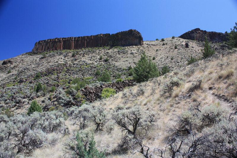Rock Climbing Photo: 'At damn sun's hot.