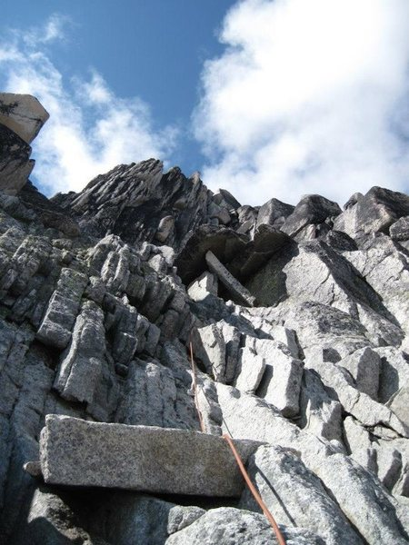 Rock Climbing Photo: Some of the lower roped pitches