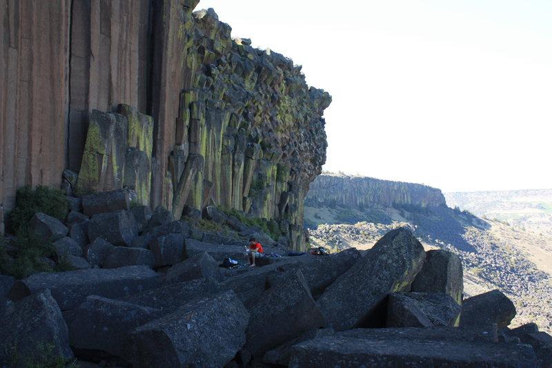 Rock Climbing Photo: Basalt.