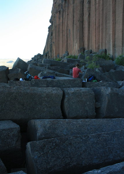Rock Climbing Photo: Among fallen columns.