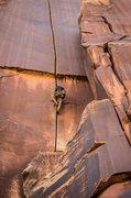 Rock Climbing Photo: Karl Kelley leading Supercrack. Photo by Jenna Bos...