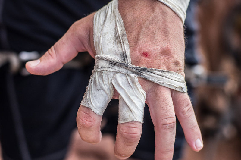 Rock Climbing Photo: My hands after climbing Luxury Liner aka Supercrac...