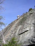Rock Climbing Photo: sweeping the route