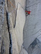 Rock Climbing Photo: Grant celebrating after the business on the lower ...