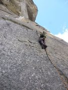 Rock Climbing Photo: Grant on the pitch 10 splitter hand crack