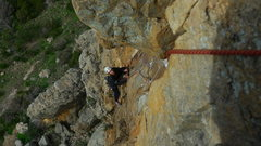 Rock Climbing Photo: Jordan Morrison seconding the 3rd pitch of the Bar...