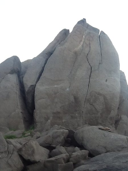 Rock Climbing Photo: small crack on the right