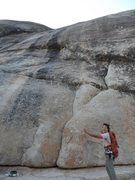 Rock Climbing Photo: miming the right off the deck thrilling hand trave...