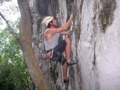Rock Climbing Photo: Eric Coffman finishing the boulder start of Oh Bab...