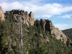 Rock Climbing Photo: Some of the west-facing rock near Pulpit Rock from...