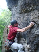 Rock Climbing Photo: getting set to move up and left