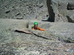 Rock Climbing Photo: overhanging last moves