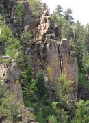 Rock Climbing Photo: Looking at the crack from across the valley from t...