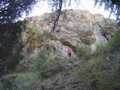 "Rock Climbing Photo: Good warm up, Go Pro seq shot of ""On the Marg..."
