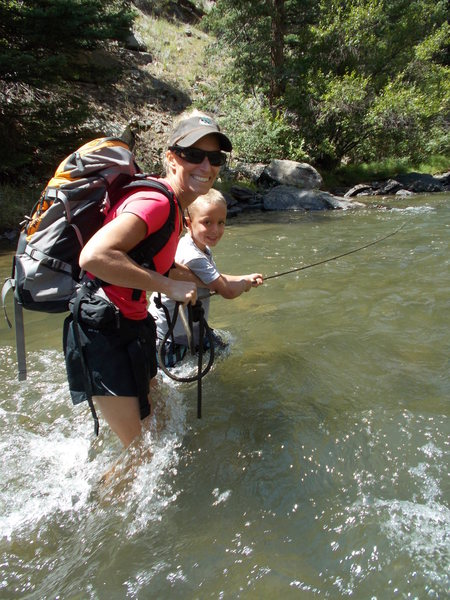 Rock Climbing Photo: Garrett and Lisa Gillest crossing back after climb...