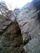 Rock Climbing Photo: Its starts in a little overhanging alcove.