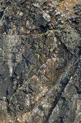 Rock Climbing Photo: Black Powder route topo