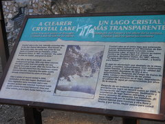 Rock Climbing Photo: The sign commemorating the naming of Crystal Lake ...