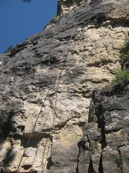Rock Climbing Photo: Baby Hands Might Hurt. Watch for wasps in the pock...