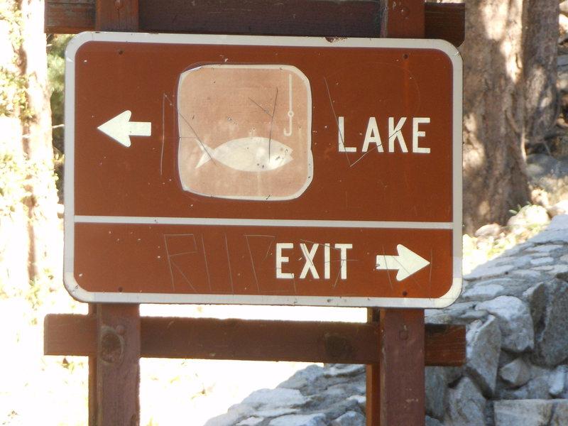 Finding the way to Crystal Lake and Crystal Lake Crag.