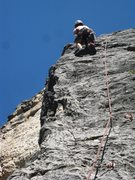Rock Climbing Photo: Climbing this fun route on a hot July day, we Colo...