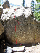 Rock Climbing Photo: Tap Dancer starts near the middle of the almost bl...