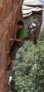 Rock Climbing Photo: David Hein on Tsunami at bolt 3.