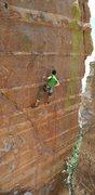 "Rock Climbing Photo: David Hein at the ""rest""."