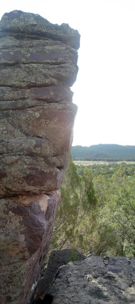 Rock Climbing Photo: This shows the angle of the route
