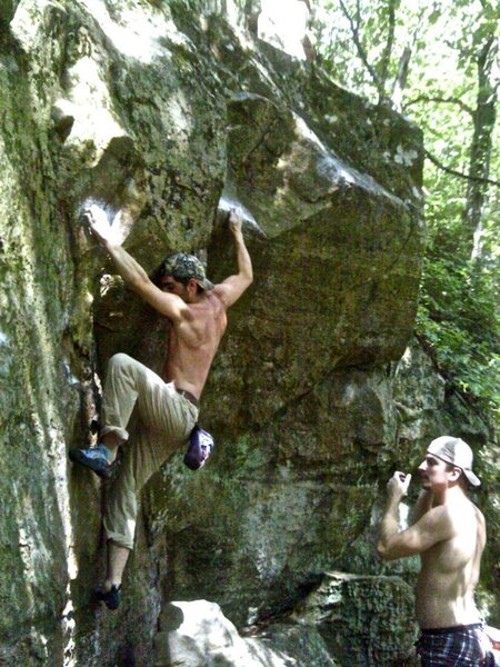 Rock Climbing Photo: moving to the sloper