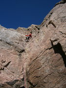 Rock Climbing Photo: Alternate start (5.7) on the low buttress to the l...