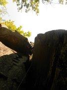 Rock Climbing Photo: Austin at the anchors