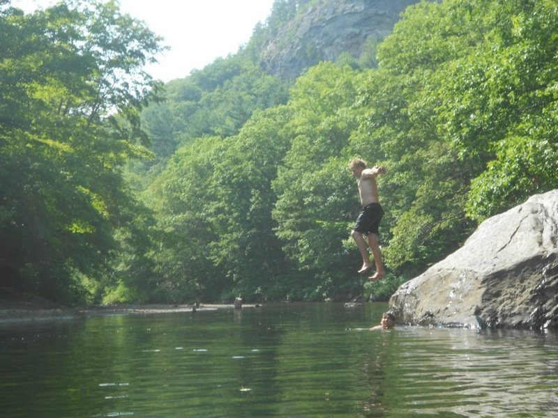 Cant beat a great swimming hole after a very hot day climbing