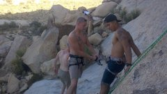 Rock Climbing Photo: Dan making sure Daniel is all good to start the cl...
