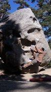 Rock Climbing Photo: shuffling on the huecos.