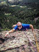 Rock Climbing Photo: Matt Tucker approaching what I'm pretty sure is th...
