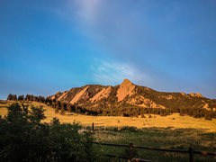 Rock Climbing Photo: Early morning at the Flatirons.