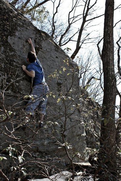 Rock Climbing Photo: Don't Step Back