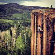 Rock Climbing Photo: Seth Cowley at the top of mano-y-mono