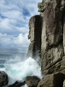 Rock Climbing Photo: The Fang at high tide