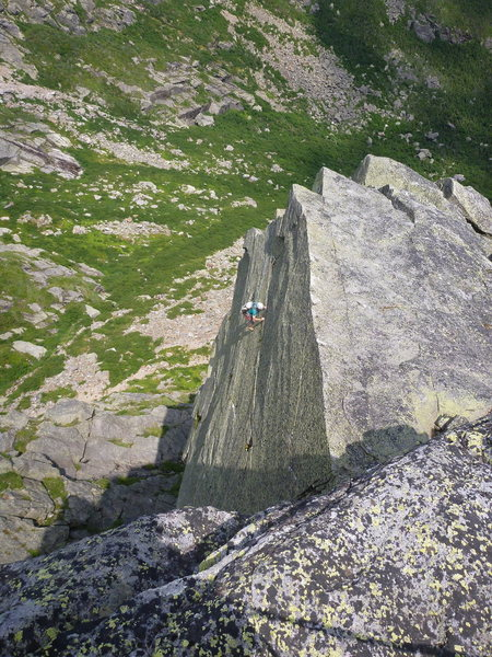 Rock Climbing Photo: The Fairy Tale Traverse variation of the last pitc...